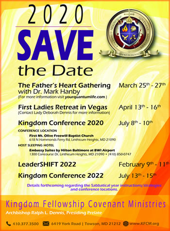 2020: Save the Date!